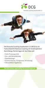 Flyer Deutsche Coaching Gesellschaft